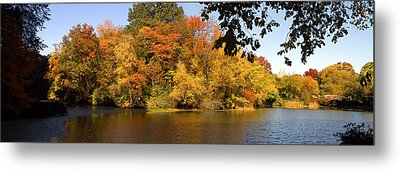 Metal Print featuring the photograph Lake In Central Park In Fall by Yue Wang