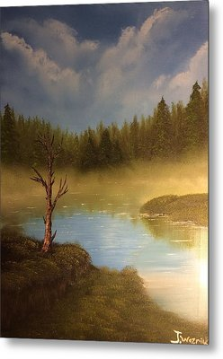 Lake In The Woods  Metal Print