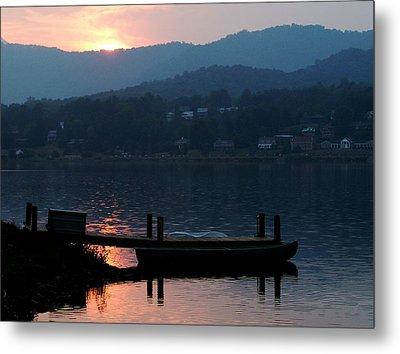 Metal Print featuring the photograph Lake J Sunset by Craig T Burgwardt