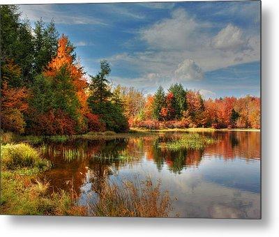 Lake Jean Reflections Metal Print by Lori Deiter