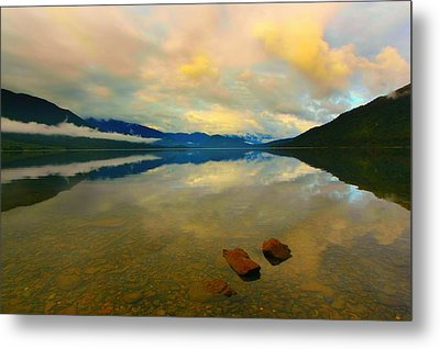 Metal Print featuring the photograph Lake Kaniere New Zealand by Amanda Stadther