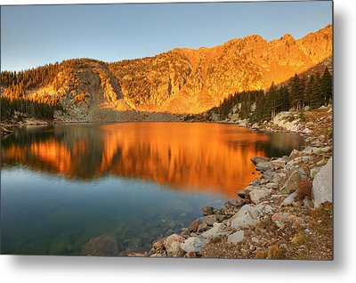 Metal Print featuring the photograph Lake Katherine Sunrise by Alan Ley