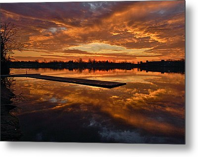 Lake Lenape Sunrise1 Metal Print by Greg Vizzi