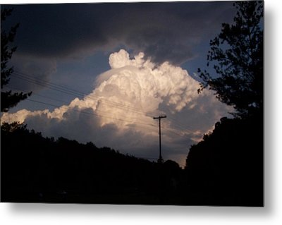 Lake Logan Thunderhead Metal Print