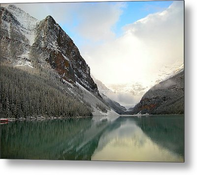 Lake Louise After The Dusting Of Snow Metal Print