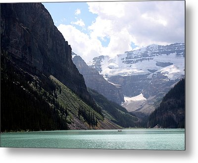 Lake Louise Metal Print by Carolyn Ardolino