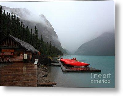 Lake Louise In Banff Alberta Metal Print