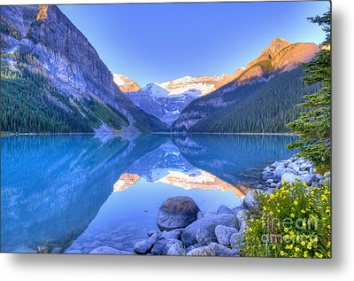 Lake Louise Metal Print by Wanda Krack