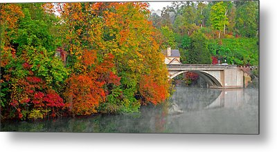 Lake Lure Autumn Metal Print by Marion Johnson