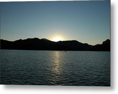 Metal Print featuring the photograph Lake Lure Sunset by Allen Carroll