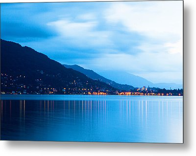 Lake Maggiore Before Sunrise Metal Print by Susan Schmitz