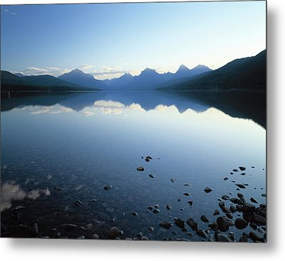 Lake Mcdonald And The Rocky Mountains Metal Print by Panoramic Images