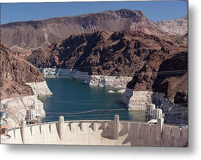 Lake Mead Dam And Hydro Plant Metal Print by Ashley Cooper