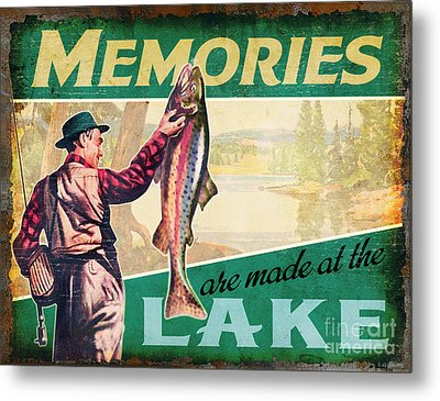 lake Memories Metal Print by JQ Licensing
