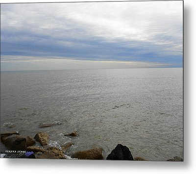 Lake Michigan 3 Metal Print by Verana Stark