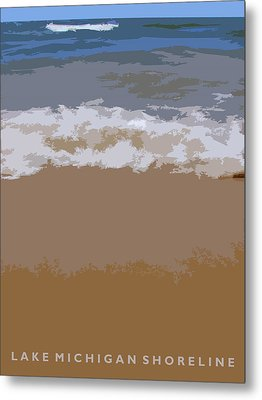 Lake Michigan Shoreline Metal Print