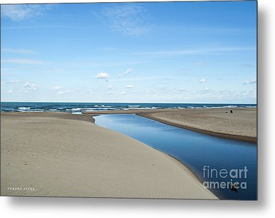 Lake Michigan Waterway  Metal Print by Verana Stark