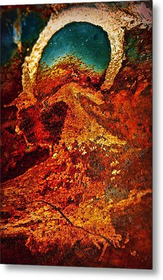 Lake Of Lava Metal Print by Leanna Lomanski