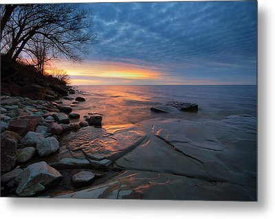 Lake Ontario At Sunset Metal Print by Tracy Welker