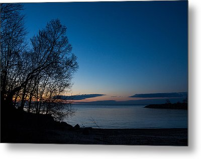 Metal Print featuring the photograph Lake Ontario Blue Hour by Georgia Mizuleva