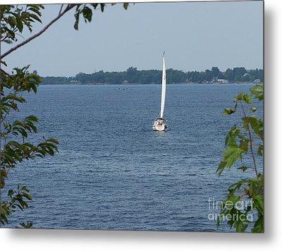 Lake Ontario Sailing Metal Print by Kevin Croitz
