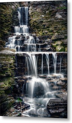 Lake Park Waterfall Metal Print by Scott Norris