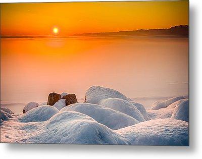 Lake Pepin Winter Sunrise Metal Print by Mark Goodman