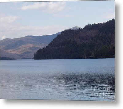Metal Print featuring the photograph Lake Placid Mountains by John Telfer