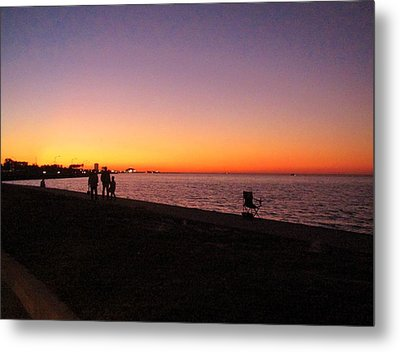 Lake Pontchartrain Sunset Metal Print
