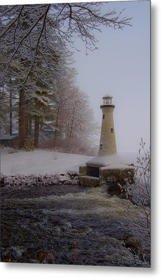 Lake Potanipo Lighthouse Metal Print by Brenda Jacobs
