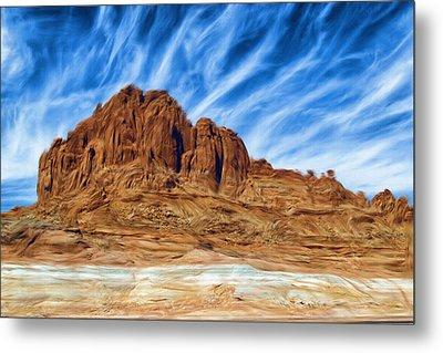 Lake Powell Rocks Metal Print by Ayse and Deniz