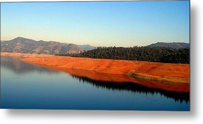 Metal Print featuring the photograph Lake Reflections by AJ  Schibig