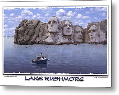 Lake Rushmore Metal Print by Mike McGlothlen