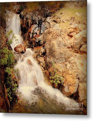 Metal Print featuring the photograph Lake Shasta Waterfall 2 by Garnett  Jaeger