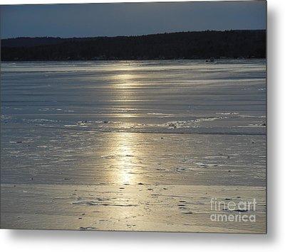 Lake Sunset 10 Metal Print by Ingrid L