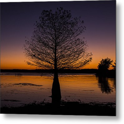 Lake Sunset Metal Print by Amber Kresge