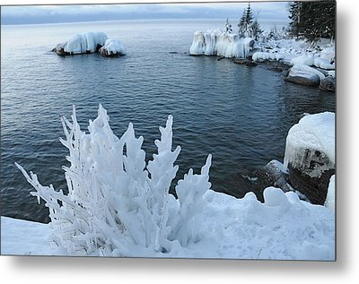 Lake Superior Blues Metal Print by Sandra Updyke