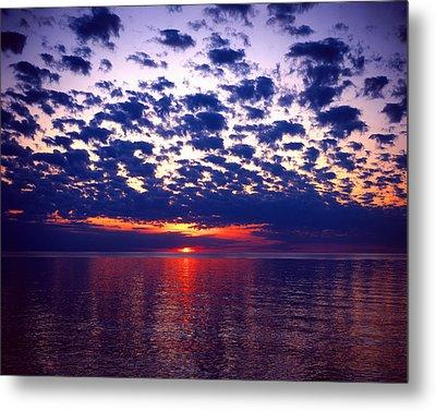 Lake Superior Sunset Metal Print by Tim Hawkins