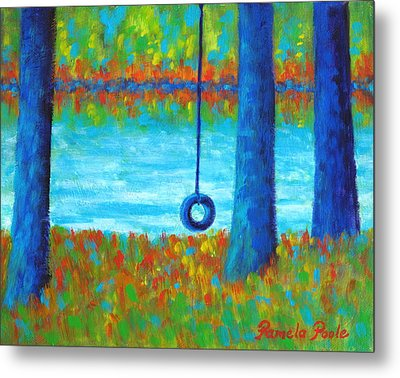 Lake Swing Tranquility Metal Print