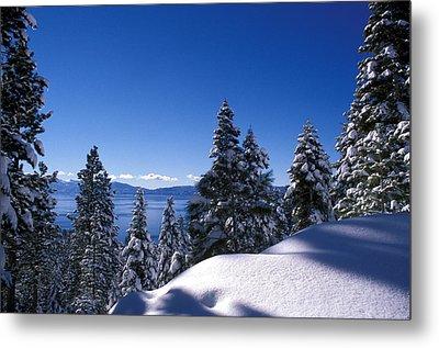 Lake Tahoe In Winter Metal Print by Kathy Yates