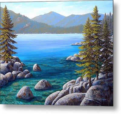 Lake Tahoe Inlet Metal Print
