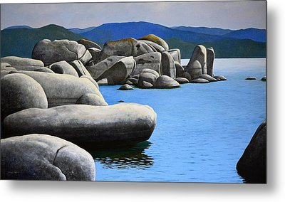 Lake Tahoe Rocky Cove Metal Print