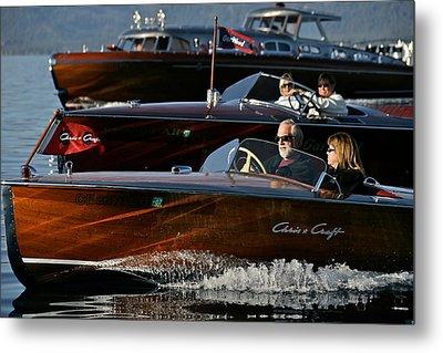Lake Tahoe Speedboats Metal Print by Steven Lapkin