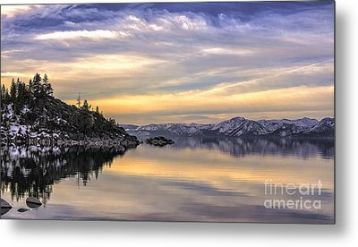 Lake Tahoe Sunrise Metal Print by Nancy Marie Ricketts