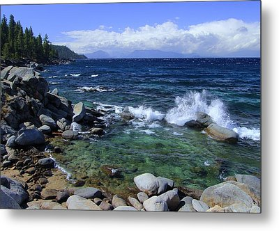 Metal Print featuring the photograph Lake Tahoe Wild  by Sean Sarsfield