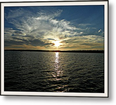 lake Tomiko Sunset Metal Print by Dianne  Lacourciere