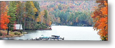 Lake Toxaway In The Fall Metal Print