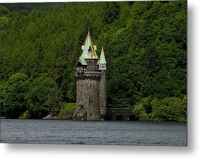 Metal Print featuring the photograph Lake Vyrnwy Straining Tower by Stephen Taylor