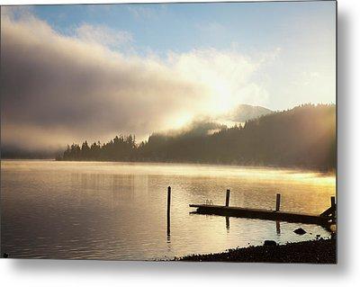 Lake Whatcom At Sunrise  Bellingham Metal Print