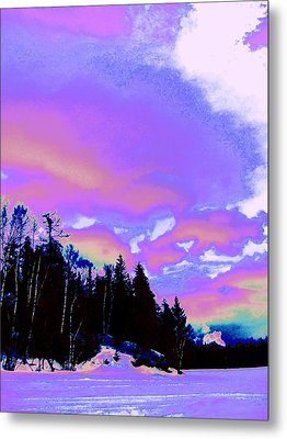 Winter  Snow Sky  Metal Print